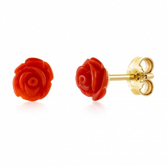 sofia-zlaté-náušnice-ST-N-rose-CORred-7-koralové