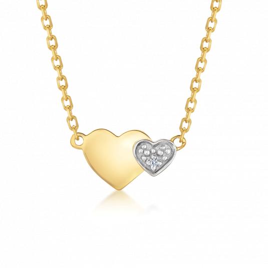 SOFIA zlatý náhrdelník so srdiečkami