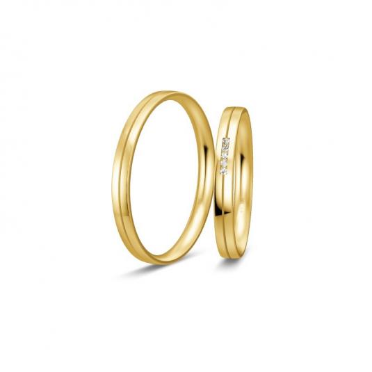 breuning-zlaté-obrúčky-BR48/04328YG+BR48/04327YG