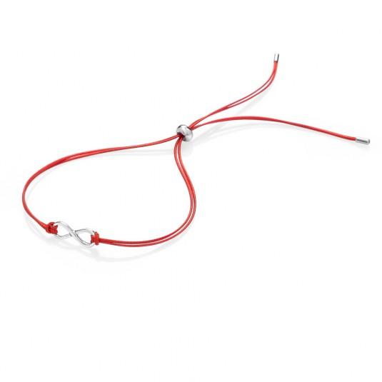 sofia-šnúrkový-strieborný-textilný-náramok-NRINF-červený
