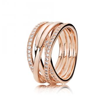 PANDORA Rose Prepletený prsteň