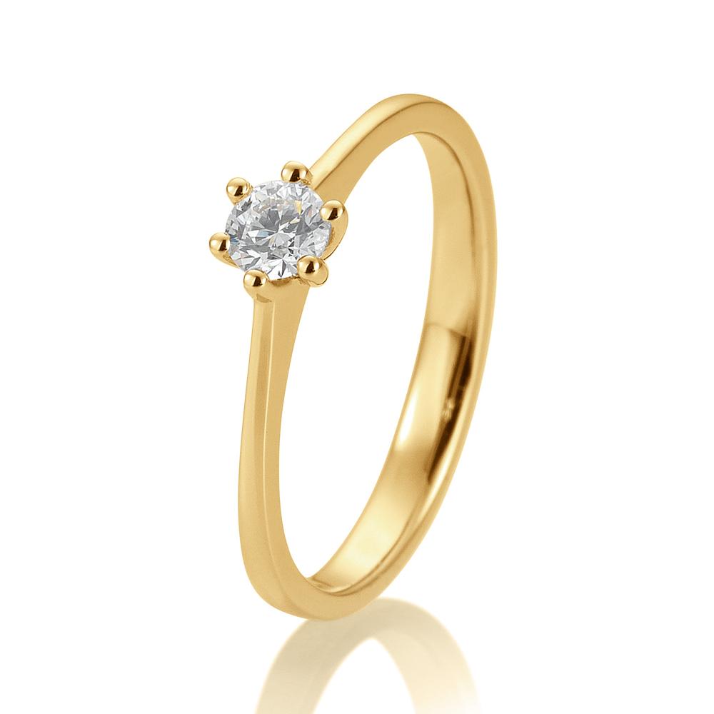 4eb97d2f68a SOFIA DIAMONDS Prsteň 14 k žlté zlato s diamantom 0,20 ct