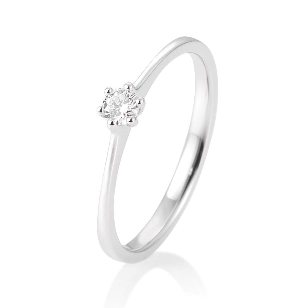 0d86c8c817a SOFIA DIAMONDS Prsteň 14 k biele zlato s diamantom 0,10 ct