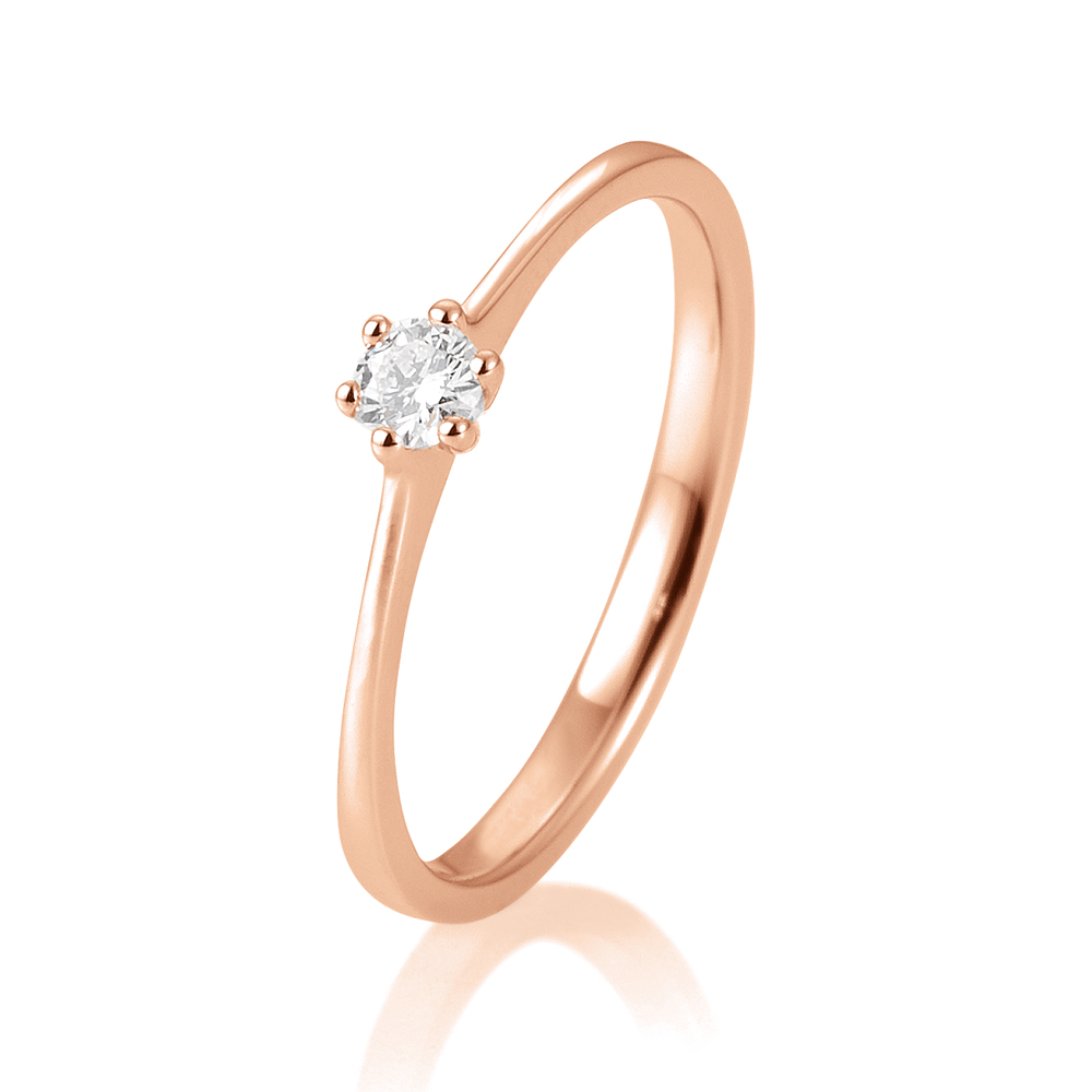 b07245d581b SOFIA DIAMONDS Prsteň 14 k ružové zlato s diamantom 0,10 ct