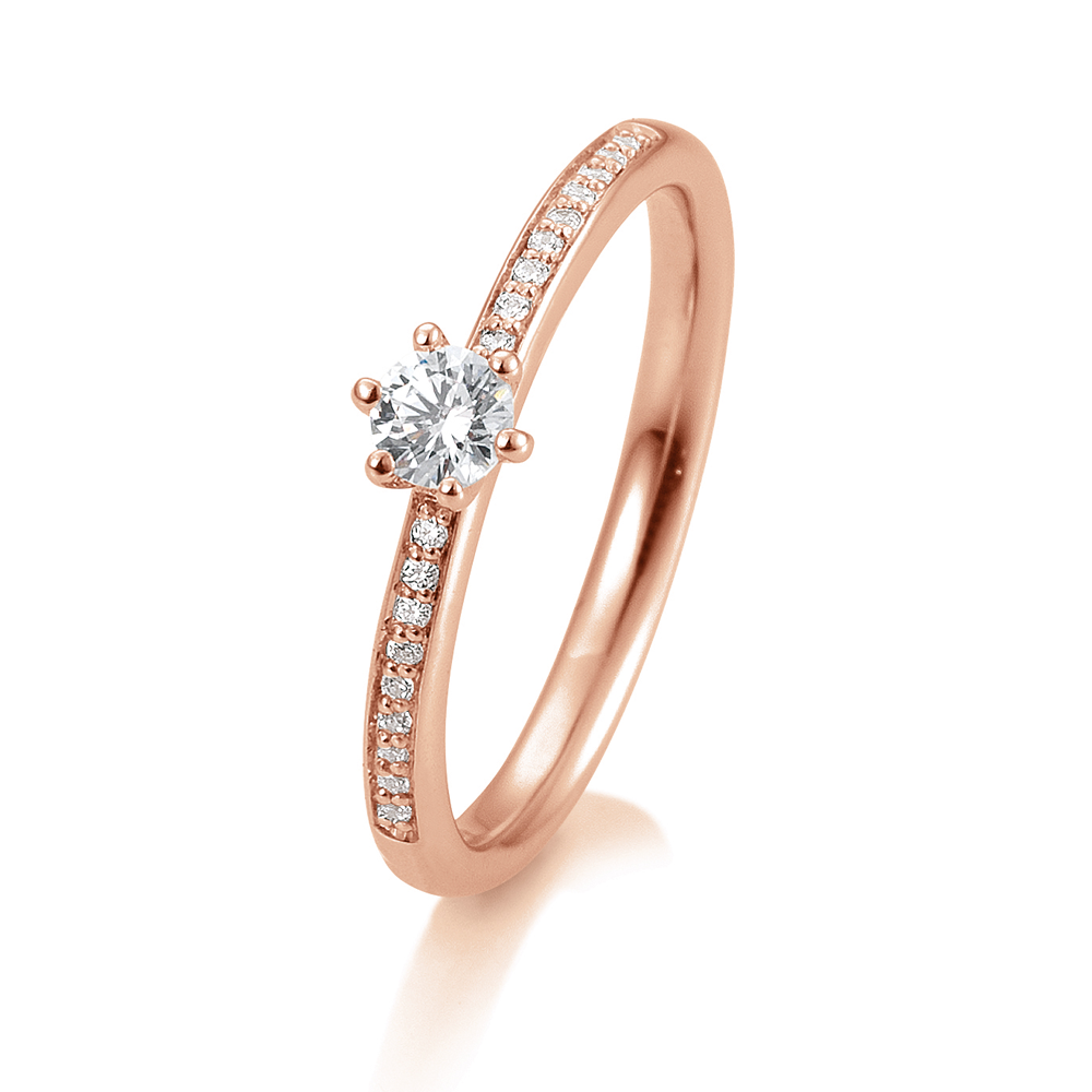 5c3bb7f2f82 SOFIA DIAMONDS Prsteň 14 k ružové zlato s diamantmi 0,29 ct