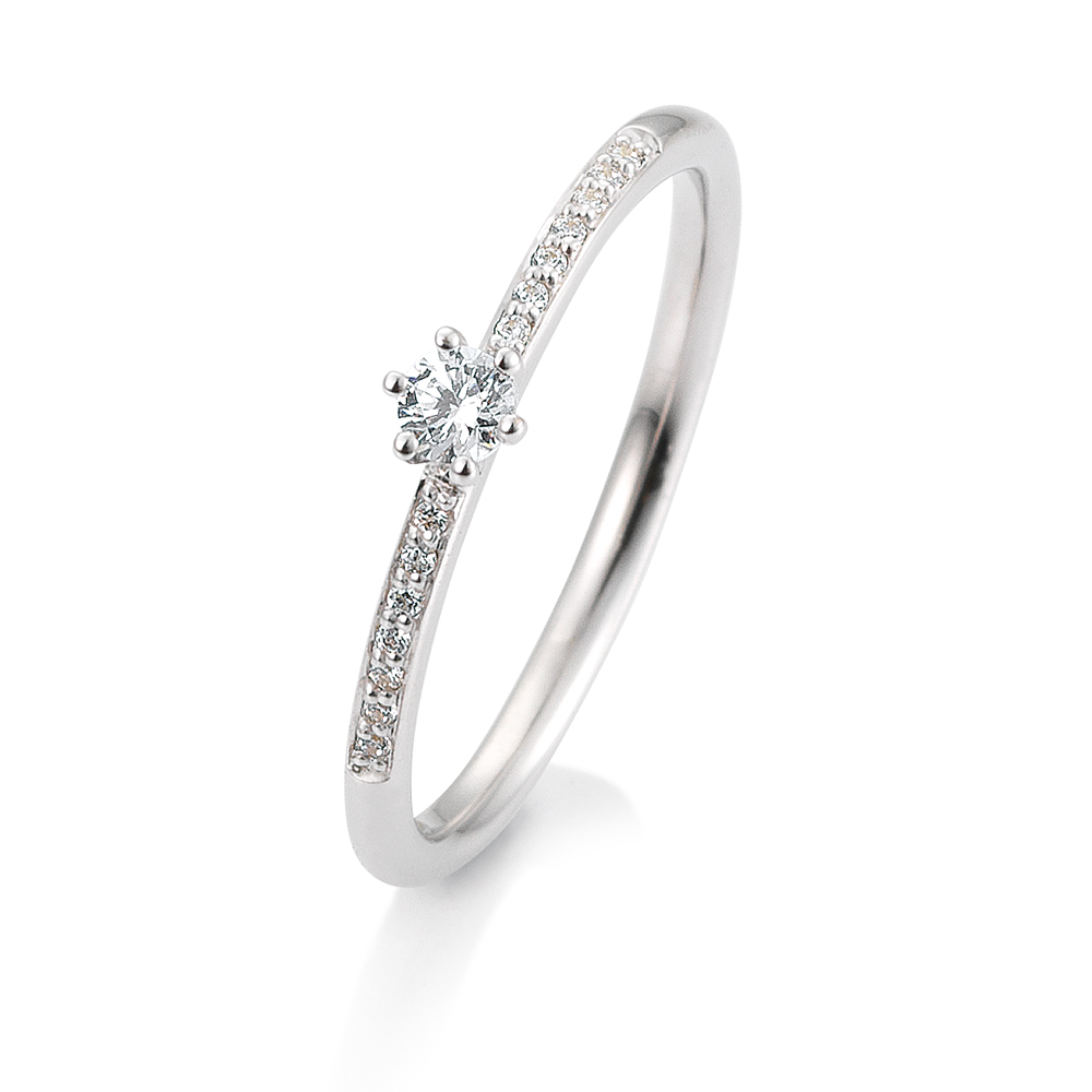 18dcc2c14af SOFIA DIAMONDS Prsteň 14 k biele zlato s diamantmi 0,17 ct
